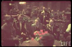 Party reception at Führerbau, 25 February 1939. From left to right: Adolf Hitler, Arthur Seyss-Inquart, wife of Heinrich Himmler (Margarethe Boden) and Heinrich Himmler.