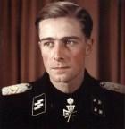 SS-Sturmbannführer Joachim Peiper after receiving Eichenlaub.
