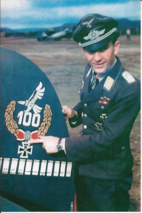 Petsamo airfield (Finland), August 1943. Oberleutnant Theodor Theo Weissenberger.
