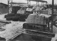 Replacement Panther turrets of Panzer Division Müncheberg, 1945.