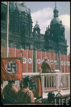 Robert Ley speaking at the Lustgarden in Berlin, May 1938.