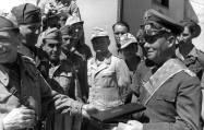 Rommel receives an Italian award.