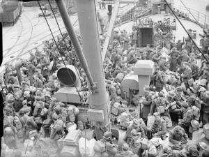 RAF personnel being evacuated from Brest.