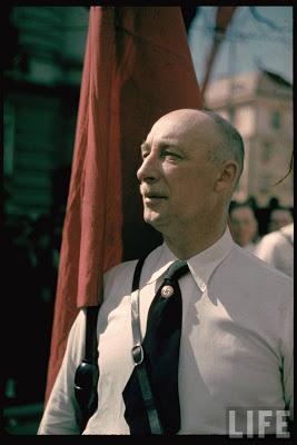 SA leader at Klagenfurt during Austrian Anschluss referendum.