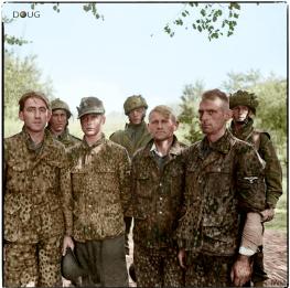 Captured SS Soldaten of the 9.SS-Panzer-Division Hohenstaufen.