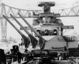 Scharnhorst in port during the winter of 1939–1940
