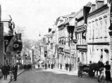 Main street in Aš, where SdP's leadership met on 13 September 1938 before fleeing to Germany.