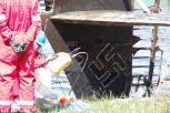Tailplane: The Nazi swastika and identification number is clearly visible next to the plane's rudder.