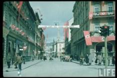The Austrian Anschluss referendum in Linz 1938.