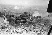 The Reichstag after the conquest of the Red Army. Berlin, May 2, 1945.