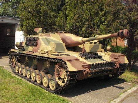 The StuG IV held by the Armoured Warfare Museum in Poznań, Poland.
