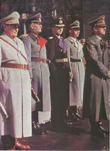 Hermann Göring, Wilhelm Keitel, Karl Dönitz, Heinrich Himmler, and Adolf Hitler.