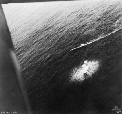 U-26 under attack by a Sunderland flying boat on 1 July 1940.
