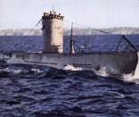 U-1, a Type IIA submarine and lead ship of the class.