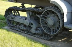 Tracks of a captured P107 used by the Wehrmacht, displayed in the Museum of the Great Patriotic War, Moscow, Poklonnaya Hill Victory Park.