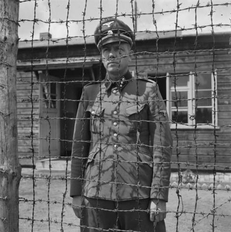 Untersturmführer SS Carl-Peter Berg (Karl Peter Berg, 1907-1949) after his arrest.