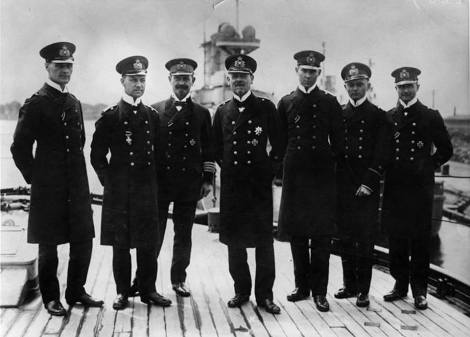 Vice Admiral Hipper with his staff 1916