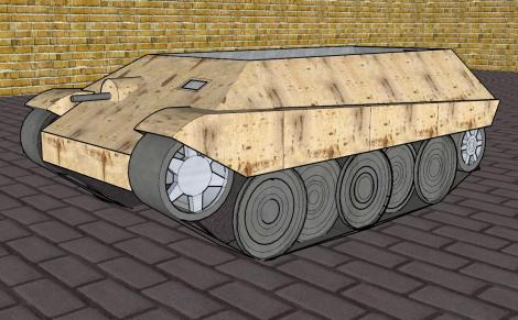 Drawing of a Kätzchen APC.