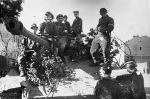 Captured German Panther tank – armoured platoon of battalion Zośka under command of Wacław Micuta.