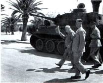 Winston Churchill inspecting the Tiger 131 in North Africa.