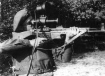 The Zielgerät 1229 (ZG 1229), also known in its code name Vampir, was an active infrared device developed for the Wehrmacht for the Sturmgewehr 44 assault rifle, intended primarily for night use.
