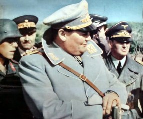 Reichsmarschall Hermann Göring with his Luftwaffe and Italian officers.