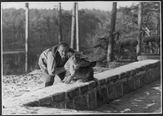 Hermann Goring with a lion cub.