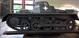 Panzer I Ausf. A tank, German Tank Museum – Deutsches Panzermuseum in Munster, Germany.