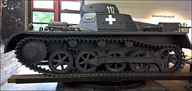 Panzer I Ausf. A tank, German Tank Museum – Deutsches Panzermuseum in Munster, Germany.