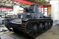 Deutscher Panzer 38(t) Ausführung S im Deutschen Panzermuseum Munster.