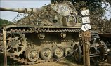 """Panzer IV tank number 734 is in private ownership and is often seen at military vehicle events in the summer in Britain like the annual """"War and Peace"""" Show in Folkstone."""