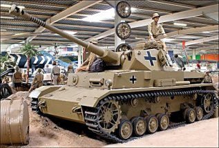 German Panzer IV tank, Auto and Technik Museum in Sinsheim, Germany. It has been restored in the German Afrika Korps desert camouflage of 1941.