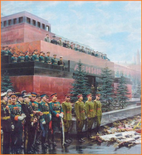 Lowering of Nazi Standards at the Soviet Victory Parade painting