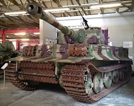 Tiger Tank I Ausf. E Heavy Tank panzerkampfwagen VI, Deutsches Panzermuseum in Munster, Germany.