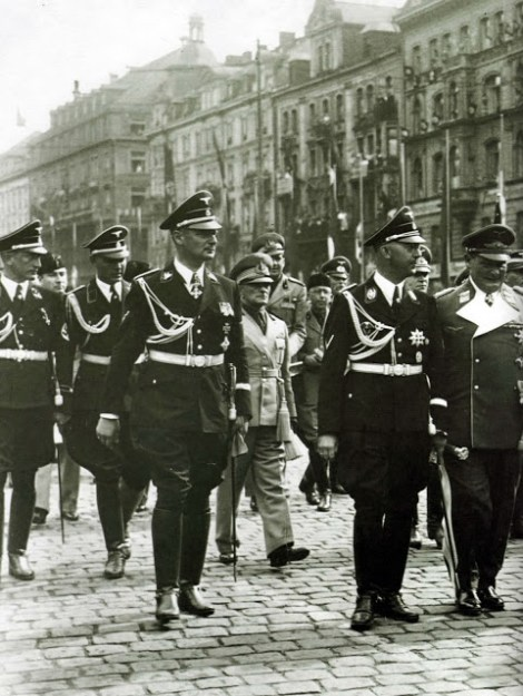 Wolff, Dollmann, Himmler, and Keitel.