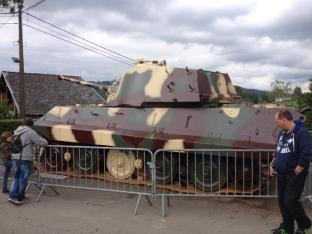 Tiger 213 being re-painted at December 44 Historical Museum - La Gleize, Belgium.