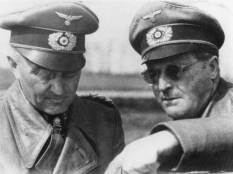 Walther Model (left), conferring with a another officer on the Eastern Front.