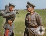 Walter Model (right) with Generalleutnant Vollrath Lübbe, commander of 2nd Panzer Division.