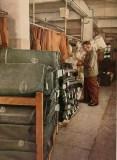 """World War II Wehrmacht uniform factory - Bales of cloth. photographs by Dr. Paul Wolff, used in the book """"Uniformen und Soldaten"""" by Curt Ehrlich - published in 1942. Featured is the uniform factory of Peek & Cloppenburg."""