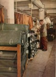 "World War II Wehrmacht uniform factory - Bales of cloth. photographs by Dr. Paul Wolff, used in the book ""Uniformen und Soldaten"" by Curt Ehrlich - published in 1942. Featured is the uniform factory of Peek & Cloppenburg."