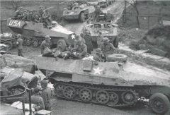 Captured Sd.Kfz. 251's.