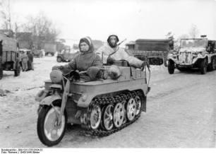 Kettenkrad winter 1943/44 in Russia.