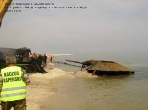 A WW2 German Jagdpanzer 38(t) Hetzer, tank destroyer recovered from the Baltic Sea.