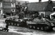Jagdpanther being towed by another.