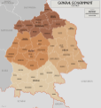 Administrative map of the General Government, July 1940 (before Barbarossa).