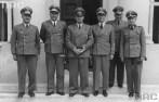 Districts administrators in 1942 from left: Ernst Kundt, Ludwig Fischer, Hans Frank, Otto Wächter, Ernst Zörner, Richard Wendler.