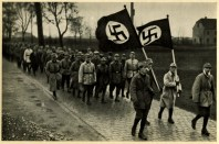 Germany Awakes. Group #32. Picture #11: Exercise of the SA outside of Munich, 1923 .
