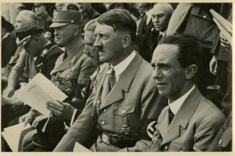 Germany Awakes. Group #32. Picture #147: German Gymnastics Festival, Stuttgart, 1933. (At right: Joseph Goebbels)