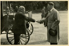 Germany Awakes. Group #32. Picture #160: The Führer greets a work veteran. . . .