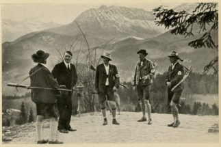 Germany Awakes. Group #32. Picture #209: Adolf Hitler among his Oberlander.